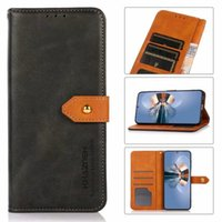 Leather Wallet Cases For iphone 13 Pro Max 12 Moto G50 SONY XPERIA ACE II 10 1 5 III ONE PLUS Nord N200 5G CE Flip Cover Holder Card ID Slot Book Retro Cow Pattern Pouch