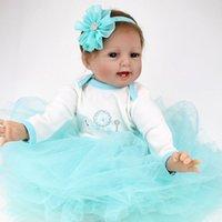"""22 """"handgefertigte reborn baby puppen kleinkind mädchen vinyl silikon neugeborenen puppe xmas bday geschenke"""