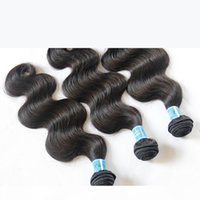 9A класс индийской волны тела девственницы человеческих волос ткацкие расслоения 3 шт. Необработанные сырые индийские ременные наращивания волос густые мягкие полные волосы двойные ветки