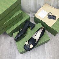 2021 Bahar ve Yaz Son Kadın Ünlü Marka Örgün Ayakkabı Çanta Tasarımcısı Özelleştirilmiş Lüks Moda Metal Toka Cömert Yüksek Topuklu Yükseklik Yükseklik Serisi
