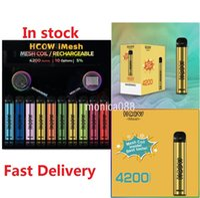 100%HCOW IMESH Disposable Device Kit E cigarettes 4200 Puffs 650mAh Rechargable Battery 10ml Prefilled Pods Cartridges Vape Pen Vs QST FILEX Max In stock