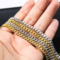 Chains ADELANTE AN210042 Hip Hop 925 Silver Iced Out Cuban Link Chain Necklace