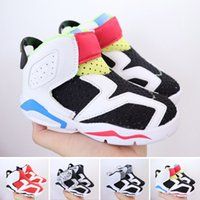 2022 wholesale Kids Boy Girls Children shoes 6 basketball Outdoor sports Gym Red 6s Athletic sneakers 22-35