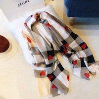 École de soie foulard classique Tartan Warhorse Echarpes à imprimé châle Écharpes douces 190 * 80cm