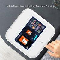 """Машина для печати для ногтей 7 """"Сенсорный экран Мобильный AI Цифровое интеллектуальное распознавание Заполните гвозди арт принтер шаблон один раз"""