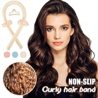 Heatless Curling Rod Headband No Heat Curls Ribbon Hair Rollers Sleeping Soft Hair Curlers DIY Hair Styling Tools