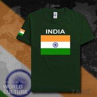 2021 الهند تي شيرت مان تيز تي شيرت أمة فريق القطن أزياء اجتماع المشجعين الشارع الشهير اللياقة بلايز البلد ind الهندي العلم H0913
