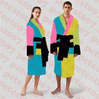 Design de moda womens banho robe sleepwear de alta qualidade casal nightwear pijama hotel casa de nightgown