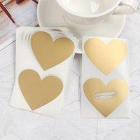 50pcs / set Scratch card Sticker Love Heart Pentagram Shape Off adesivi Fai da te Cartolina Regalo Autoadesivo Involucro