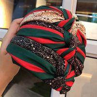 많은 패션 디자이너 와이드 엣지 매듭 머리띠 럭셔리 터번 헤드 밴드 헤어 후프 헤드웨어 여성을위한 액세서리