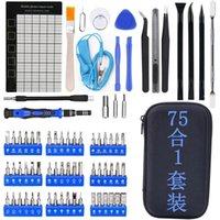 75pcs set Hand Torx Screwdriver Wallet Tools Kits For Cell Phone Repair Tool Set Kit 7IA4 41DB