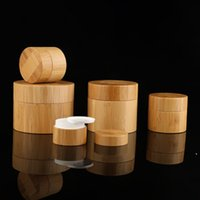 Full Bamboo Cosmetic Cream Round Bottles with White inner PP and Cover Used for Face Hand Body creams NHB6647