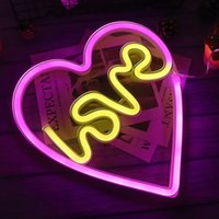 LED Neon Light Sign LOVE HEART Wedding Christmas Party Home Wall Hanging Decoration Holiday Lighting Neons Night Lamp Gifts