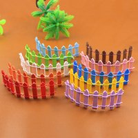 Colorful Small Wooden Fence Plant Potted Flowers Fence Gate Fairy Garden Decoration Micro Landscape Moss Bottle Accessory DIY Ornaments DH9567