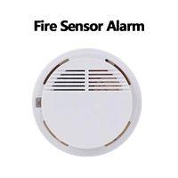 Duman Dedektörü Alarmları Sistem Sensörü Yangın Alarm Müstakil Kablosuz Dedektörler Ev Güvenlik Yüksek Hassasiyet Kararlı LED 85DB 9 V Pil