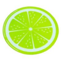 Новый Новый Круглый Силиконовый Воск Wax DAB Коврик Силиконовые Коврические Коврик Лимон Дизайн Non-Stick Dabber Листы DAB Pad Для Сухой травы Воск EWA5689