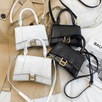 Designer LUXURY TOP-Handle Handle Tote Donne Alligator Pelle Clessidra Borsa a tracolla Girl Brand B Metallo Crossbody Bags Borse femminile
