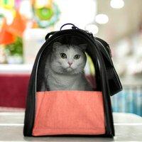 القطط القط، الصناديق المنازل المحمولة الحيوانات الأليفة حقيبة الناقل الكلب السفر في الهواء الطلق مصممة للمشي المشي الوزن داخل 4 كجم