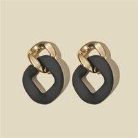 Designer Earrings Luxury Jewelry CWEEL Black Statement for Women Bohemian Boho Brincos Geometric Dangle Drop Earings Fashion Unusual