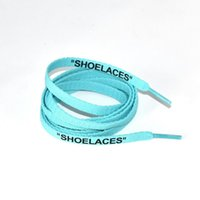 """New colorful lace Letter Font 8mm Double Sides Printed """"SHOELACES"""" Black White Signed Off Flat Shoes Lacet Joint Shoelace 120 140 160cm #0056"""