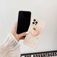 Fundas de teléfono de la música de TPU Peach Pinch Pinch para iPhone11 12 Pro Promax X XS Max 7 8 Plus Funda de caja