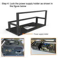 6 8 GPU Mining Frame Case Rack Motherboard Bracket Open Minings Rig Shelves ETH ETC ZEC Ether Accessories Tools