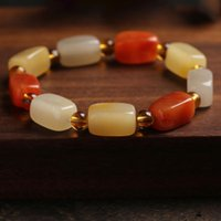 Charm Bracelets Natural Golden Silk Jade Women On Hand Chain Bangles Jewelry Aesthetic Fashion Female Now 2021 Vintage