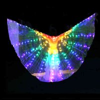 Adult belly dance LED lights costume wings glow Halloween women show Christmas props with sticks