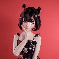 Mascarillas de fiesta (Dollkii-a) Top Calidad Hecho a mano Femenino Hombre Resina Resina Media Cosplay Play Japonés Juego BJD Kigurumi Mascarilla Muñeca Muñeca