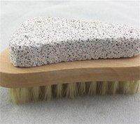 Pieds à poils pinceaux Broousses en bois Massager Brosses naturelles Exfoliative Gardez la peau douche lisse Outils de nettoyage 4GR D2