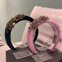 Hair Clips & Barrettes Baroque Rhinestone Headband,Headdress Flower Band Wide Hoop For Women,Hair Accessories Head
