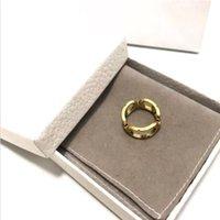 Anillo de diseñador Mujeres Moda Hombres Anillos Letters Buckled Unisex Jewelry Circlet Accessories Regalo 2 estilos