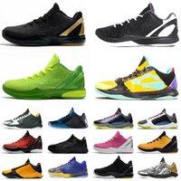 أحذية Nike Kobe Mamba Zoom 5 6 أحذية كرة السلة للرجال ZK5 KB5 Protro 6 6S What If Lakers Bruce Lee Big Stage Chaos Prelude Metallic Gold Rings Zoom ZK أحذية رياضية
