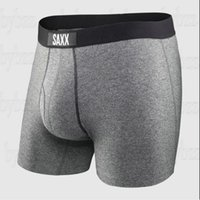 SAXX Underwear Mens Boxer Briefs VIBE Modern Fit  ULTRA PLATINUM Mans Underwear Boxer Briefs with Fly and Built-In BallPark Pouch Support