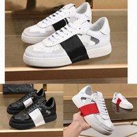 Новое поступление мужчин женщин VL7N рельефные кожаные тренажеры VLTN дизайнерские туфли черные замшевые кожаные кожаные одежды обувь с коробкой EU45 NE2013 7ATE #