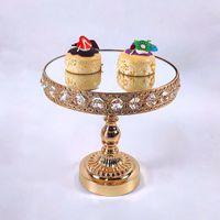 Outros Bakeware 1 PC Gold Crystal Christal Bolo Stand Electroquinho De Metal Cupcake Partido De Casamento Sobremesa Decoração Da Tabela