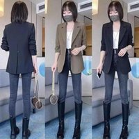 Women's Suit Jacket 2021 Wild Spring And Autumn Net Red Casual Small British Style Suits & Blazers