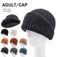 Solid Colour Knitted Hat Irregular Cut Woolen Hats Outdoor Colorful Warm and Thick Knit Cap 8 colors Fall Winter LLA932
