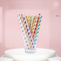 Disposable Drinking Straws Paper Straw Pink Straws For Party Supplies Birthday Wedding Decorations And Celebrations NHE9469