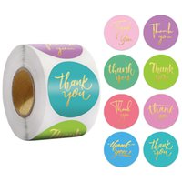 500pcs 1inch 1.5inch Thank You Paper Adhesive Stickers Label Envelope Invitation Card Gift Box Wedding Baking Decor