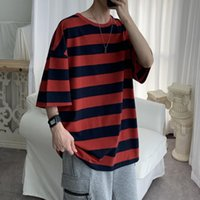 Shirt Men Cotton Striped Fashion Mens Summer T-shirts 5XL Male Oversized Tee Shirts Funny Casual TShirt For Man Xxxtentacion Men's