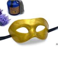 Man Gentleman Knap Maskerade Oogmasker Prom Maskers Halloween Masquerades Party Kostuum Bruiloft Decoratie Feestelijke Props HWD8581