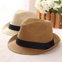 Geniş Brim Şapka Güneş Kadınlar Için Erkek Caz Kabin Panama Yumuşak Kap Gevezler Yaz Chuck Basit Dantel Kemer Plaj Yastık 6R9Q