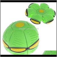 Oyunlar Etkinlikler Uçan UFO Düz Olarak Disk Topu LED Işık Oyuncak Çocuk Açık Bahçe Basketbol Oyunu YBez8 T4UQP