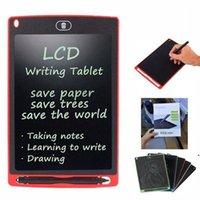 8.5 인치 LCD 작성 태블릿 어린이 성인 드로잉 보드 칠판 파티 호의 필기 패드 선물 펜 DHF6522와 함께 종이없는 메모장 메모