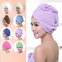 Toalla de la ducha Toalla de las mujeres Microfibra Microfibra Caps de ducha del cabello Dry Secking Turban Wrap Toalel Secador de secado rápido 60 * 25 cm HWB10469