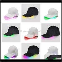 Cápsulas de bola de luz de fibra de algodón de algodón de béisbol tapas de bola de luz led en brillo en sombreros de fiesta luminoso ajustable oscuro snapback xtrws epuzr