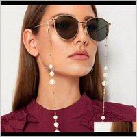 Llegada AllpUrponer Gafas Cadenas con cierre de langosta Metal y perlas artificiales Hermosas máscaras de la cara Mascarilla Cadena KSFLQ TA0JC
