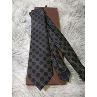 Herren Brief Krawatte Seide Krawatte Big Check Little Jacquard Party Hochzeit Woge Mode Design mit Box L003