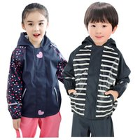 Hoodies Boys Rain Jacket Waterproof Sport Girl Coats Outdoor Children Windbreaker Autumn Kids Outwear Baby Raincoat Clothes Jackets